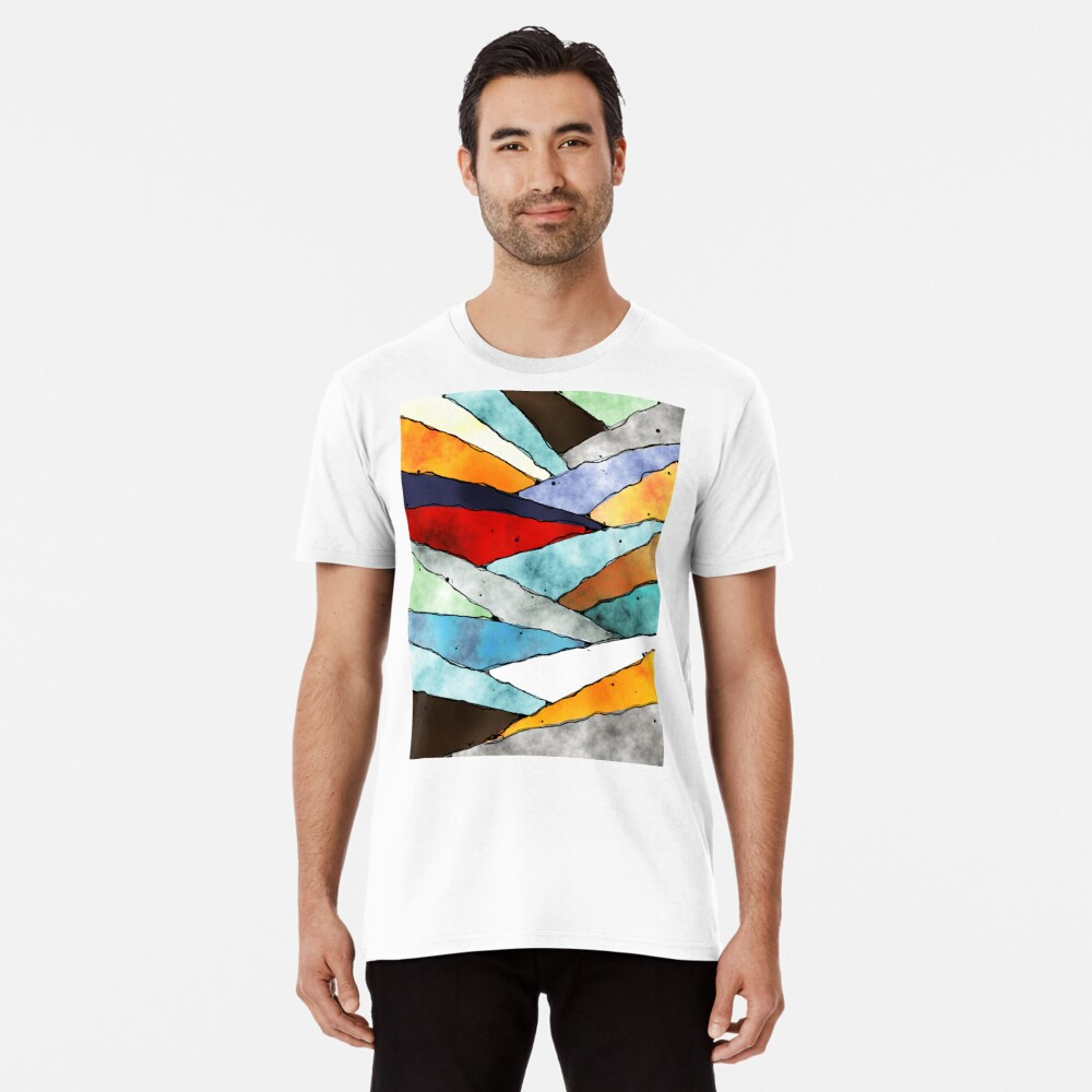 Angles of Textured Colors Premium T-Shirt