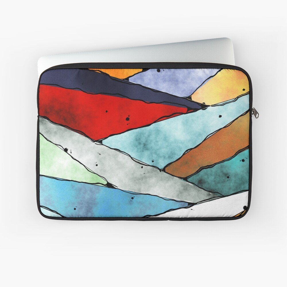 Angles of Textured Colors Laptop Sleeve