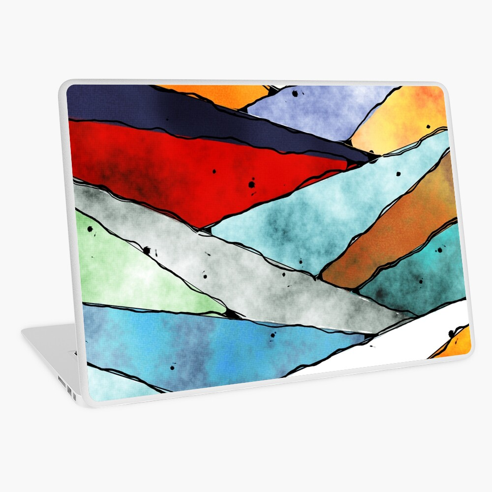 Angles of Textured Colors Laptop Skin