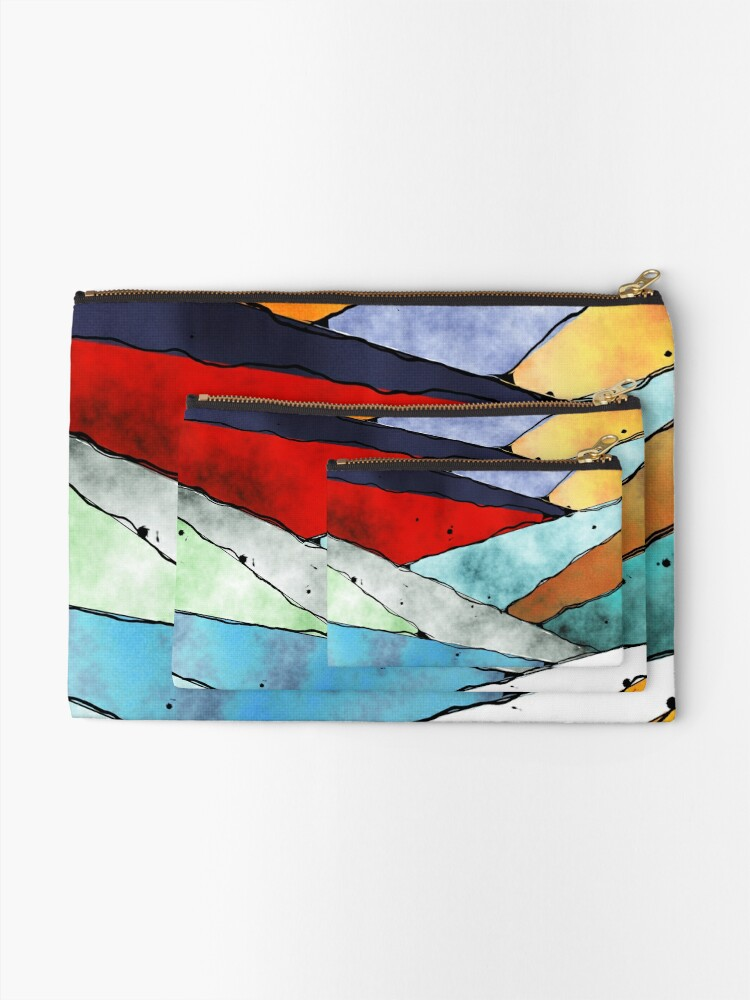 Alternate view of Angles of Textured Colors Zipper Pouch