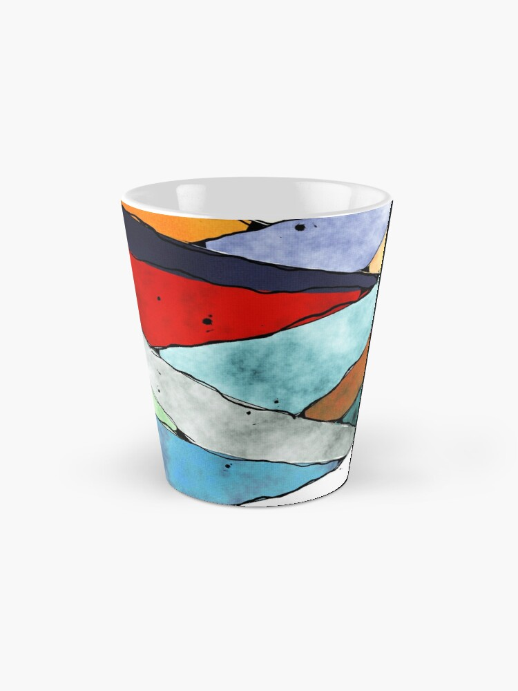 Alternate view of Angles of Textured Colors Mug