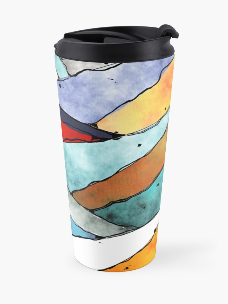 Alternate view of Angles of Textured Colors Travel Mug