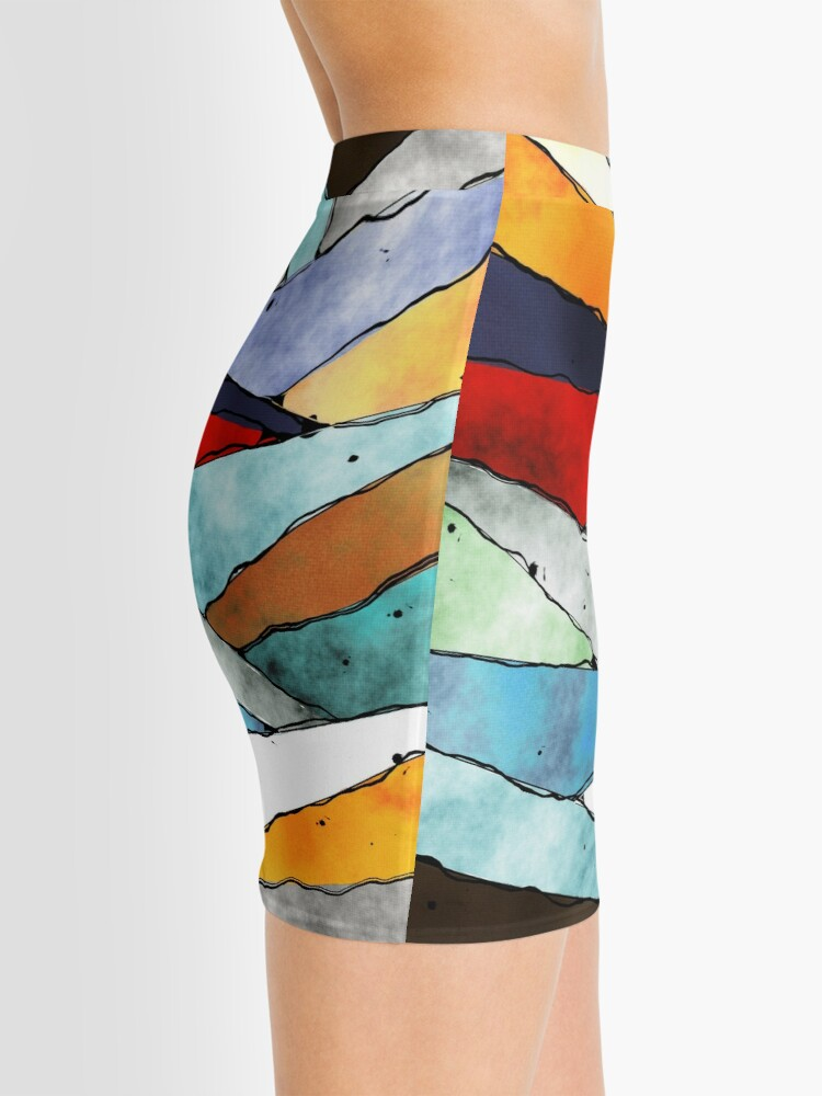 Alternate view of Angles of Textured Colors Mini Skirt