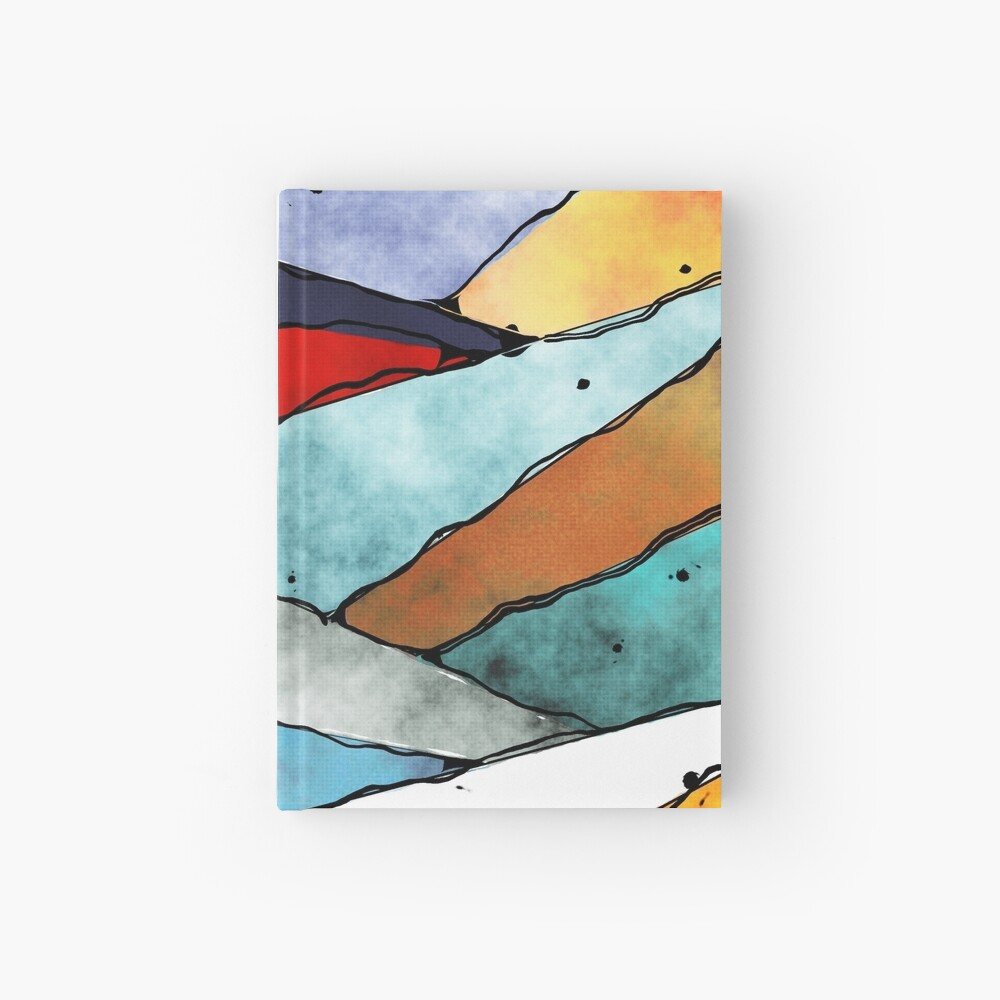 Angles of Textured Colors Hardcover Journal