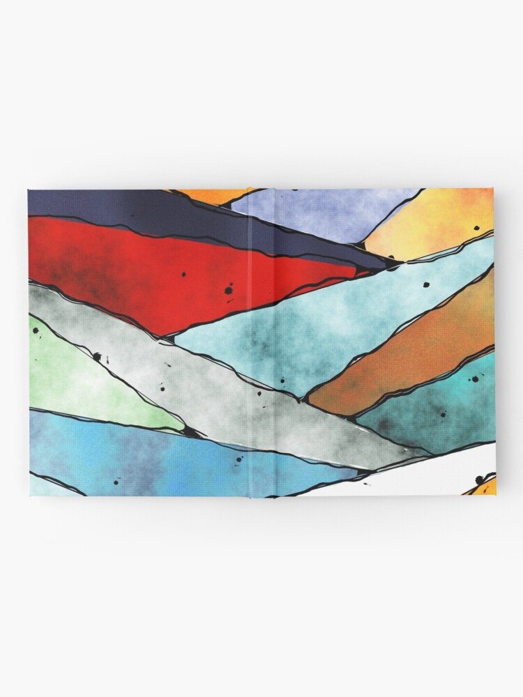 Alternate view of Angles of Textured Colors Hardcover Journal