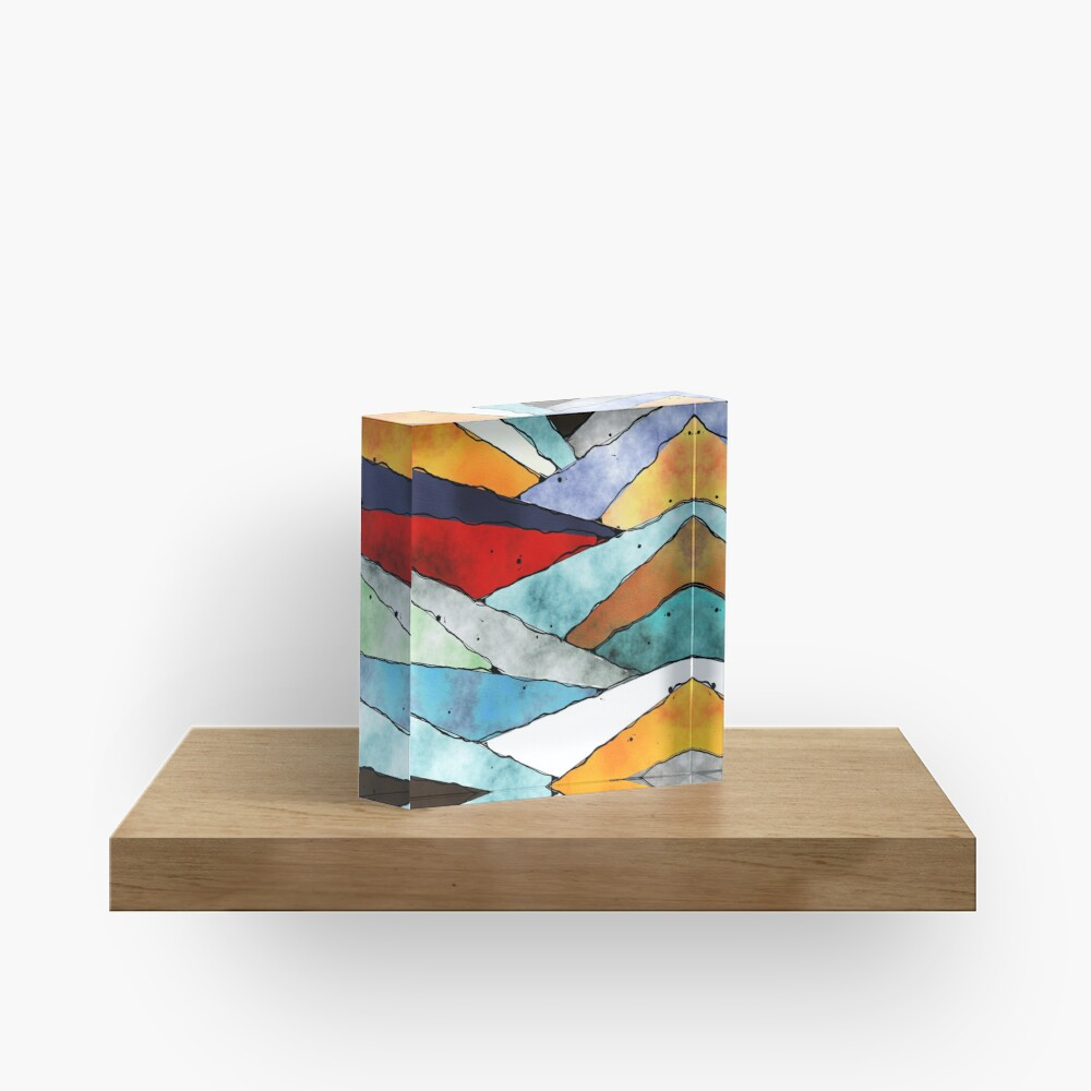 Angles of Textured Colors Acrylic Block