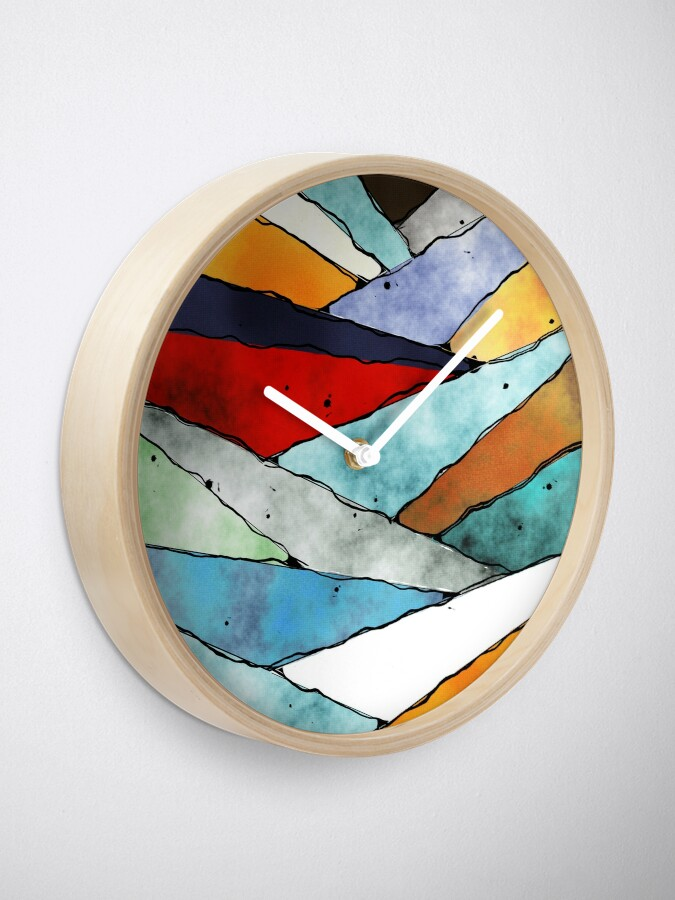 Alternate view of Angles of Textured Colors Clock