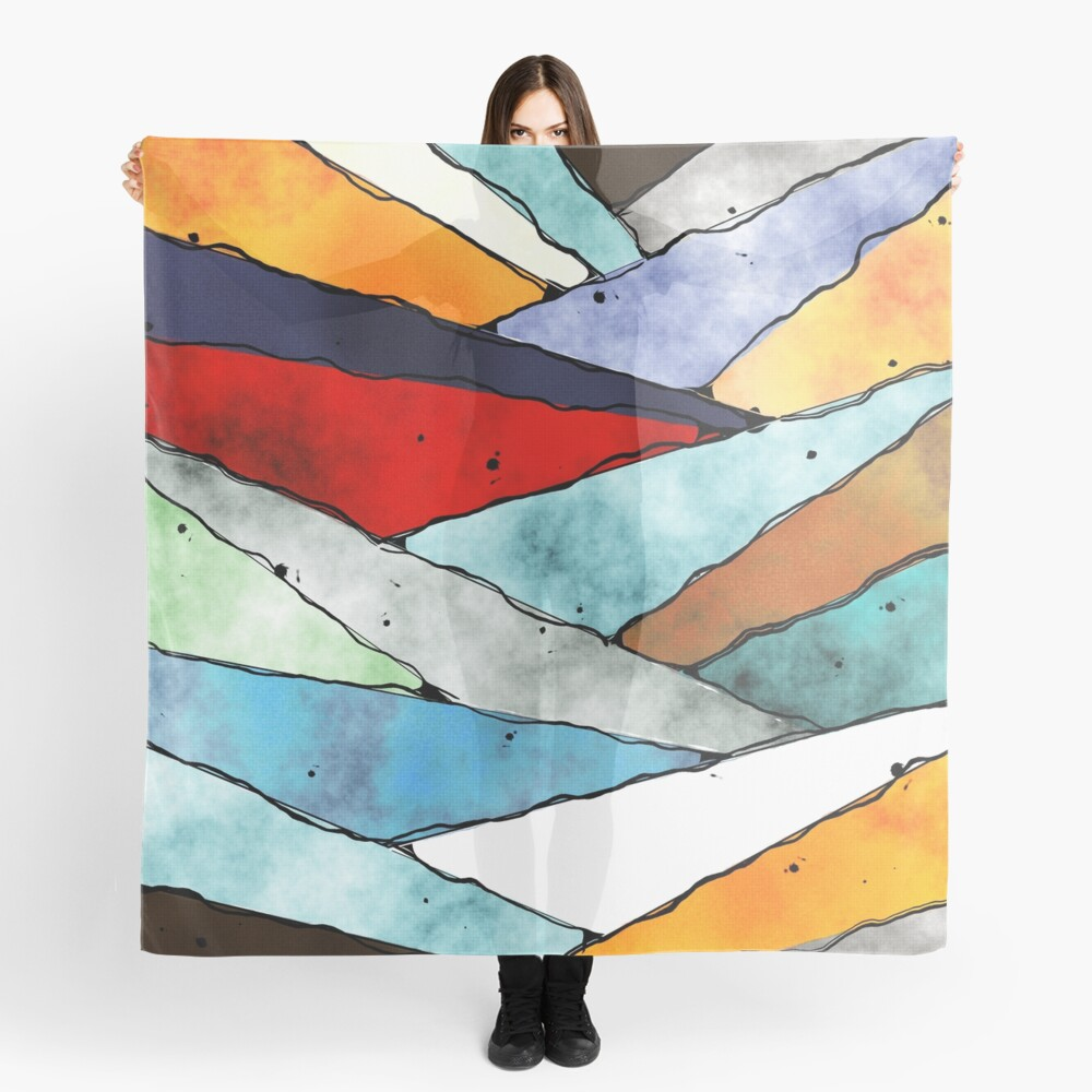 Angles of Textured Colors Scarf