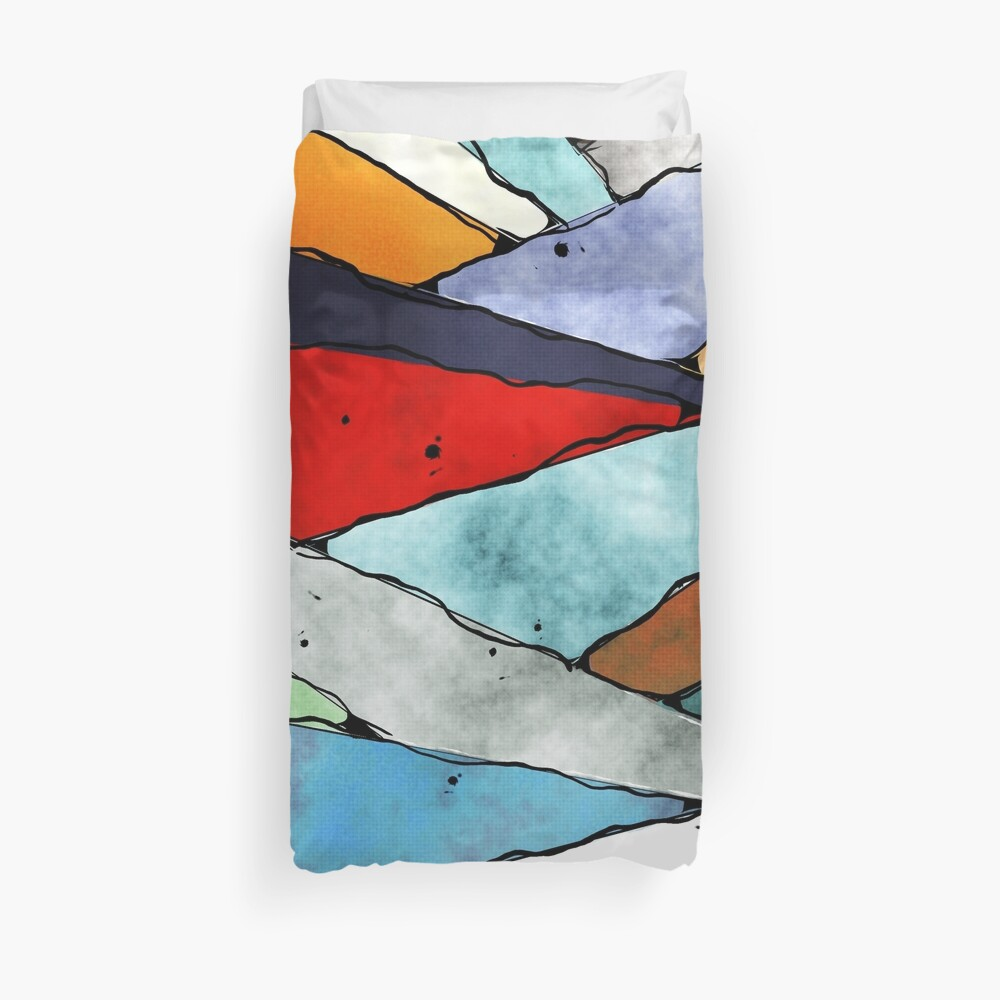 Angles of Textured Colors Duvet Cover