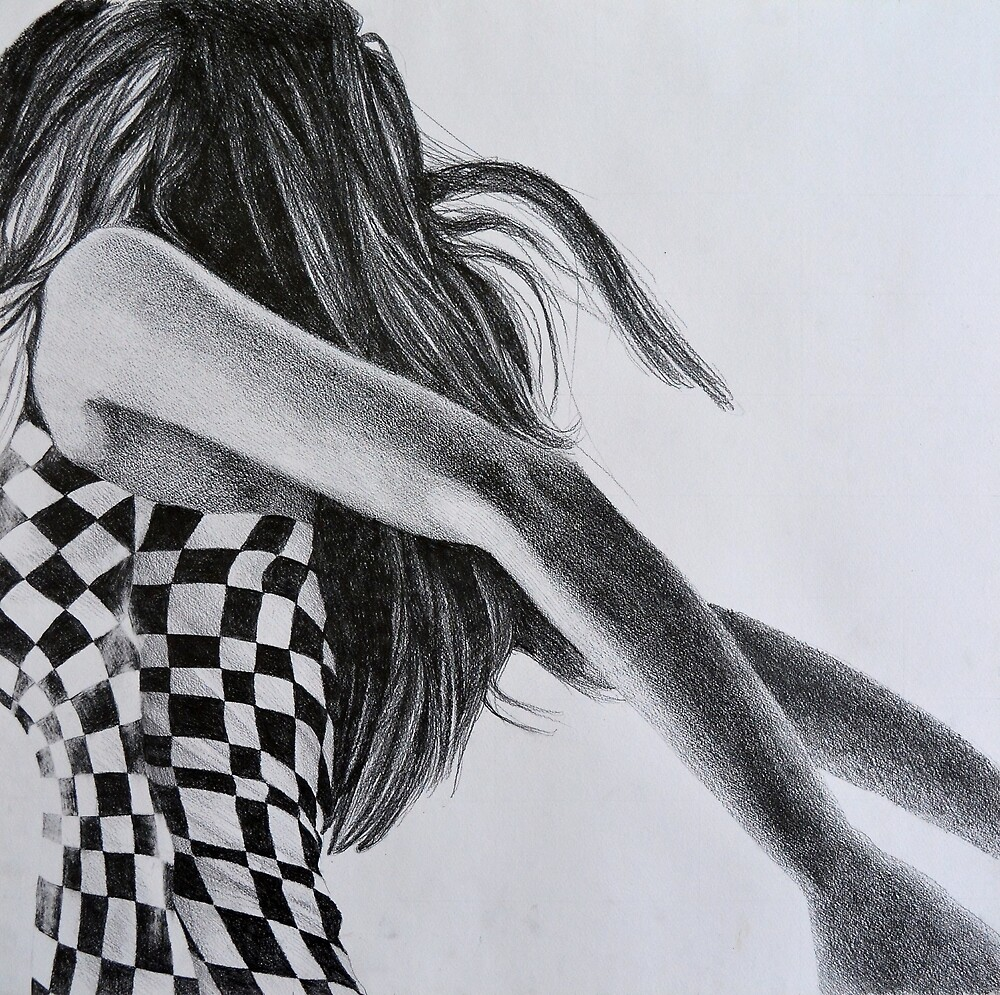 Leaving the grid, 2015, 50-50cm, graphite crayon on paper by oanaunciuleanu