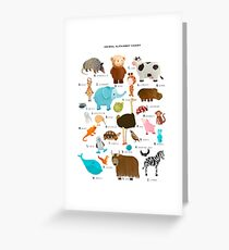 animal alphabet chart Greeting Card