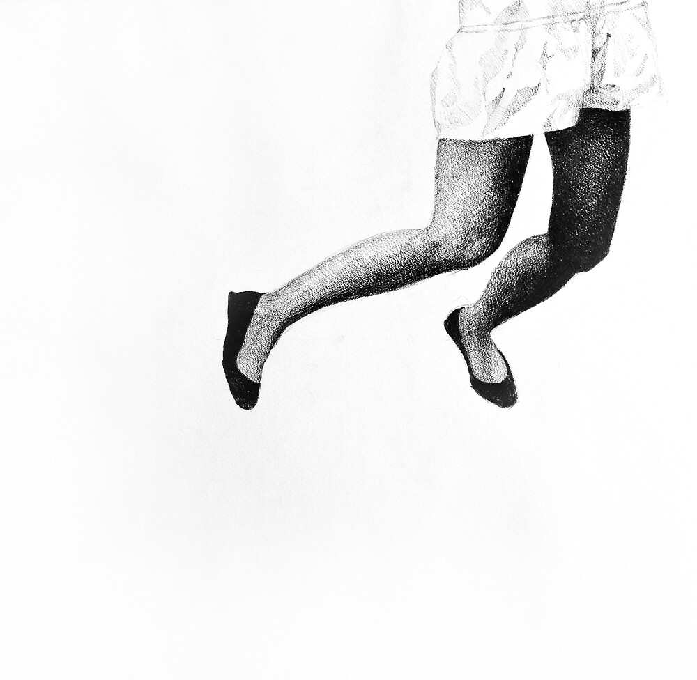 Jump of Joy, 2015, 50-50cm, graphite crayon on paper by oanaunciuleanu