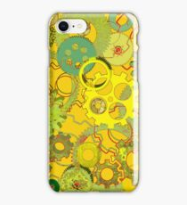 Greenish Hyperkinetic Cogwheels iPhone Case/Skin