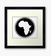 CRADLE CONTINENT Framed Print