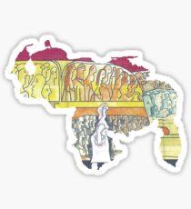 Mapa Zapata Sticker