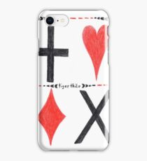 2012 - Playing Card Design in Red and Black iPhone Case/Skin