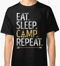 Eat Sleep Camp Repeat T-shirt Funny Camping Shirt Classic T-Shirt