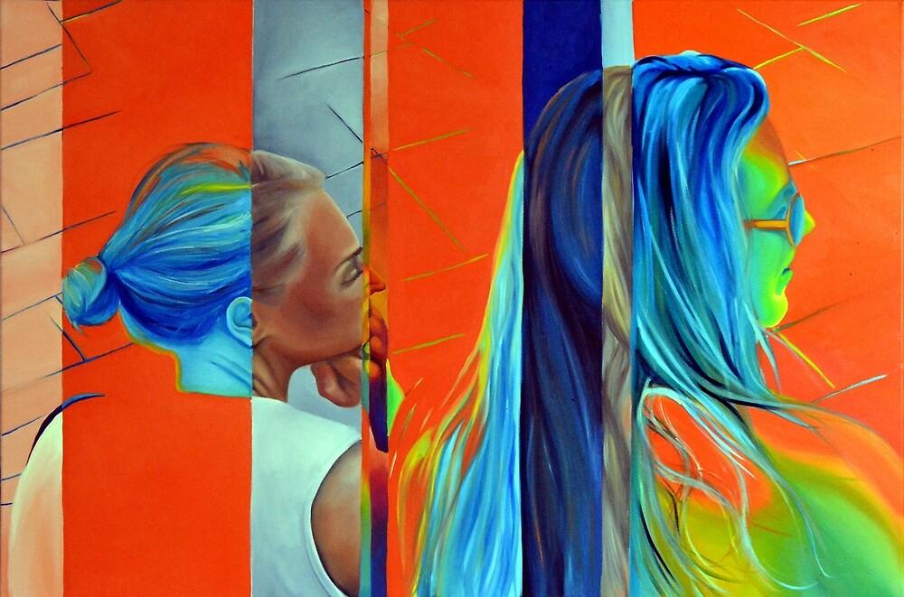 Double Standard, 120-80cm, 2015, oil on canvas by oanaunciuleanu