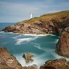 Trevose head and lighthouse Cornwall by eddiej