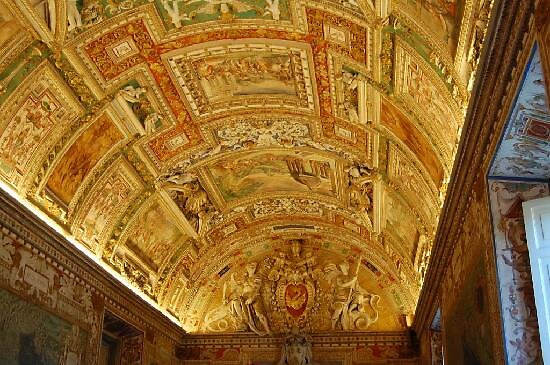 ceiling at hall of maps, Vatican by chord0