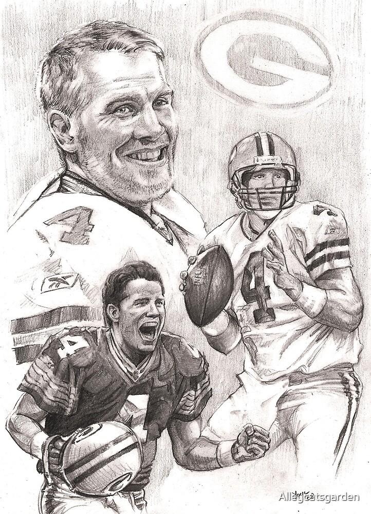 Brett Favre - Green Bay Packers by Alleycatsgarden