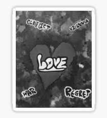Love grayscale  Sticker