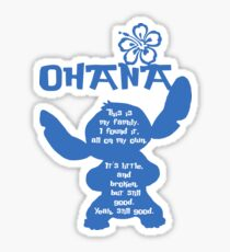 Stitch Ohana : This is my family Sticker