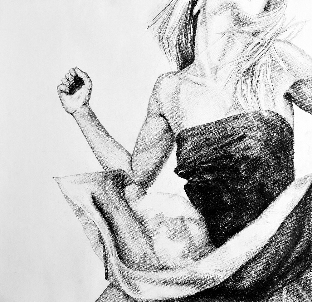 Adrenaline, 2015, 50-50cm, graphite crayon on paper by oanaunciuleanu