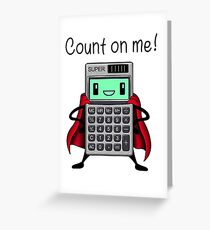 Count on me Greeting Card