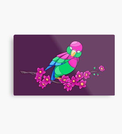 Pride Birds - Polysexual Metal Print