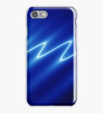 Digital image of white ripples on blue background iPhone Case/Skin