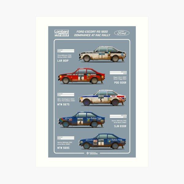 Ford Escort RAC Rally Tribute Art Print
