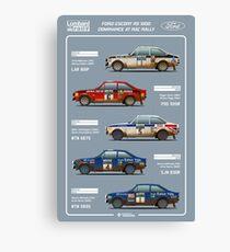Ford Escort RAC Rally Tribute Canvas Print