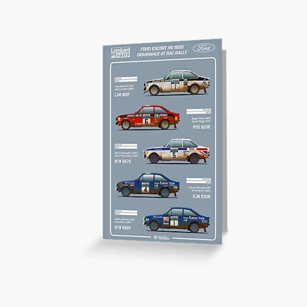 Ford Escort RAC Rally Tribute Greeting Card