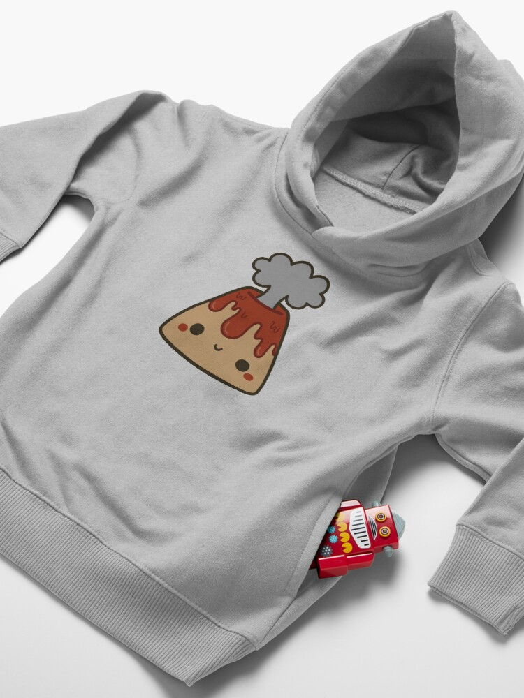 Alternate view of Cute volcano Toddler Pullover Hoodie