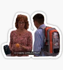 iCarly Ms. Briggs I Hate Citrus Fruit Sticker