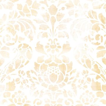 Vintage Floral Pattern White Wash by illustrateme
