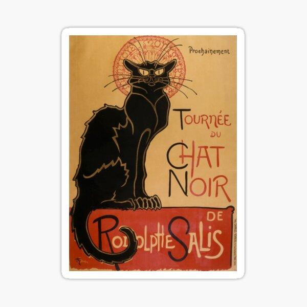 Art Nouveau Print, Le Chat Noir by Steinlen Sticker