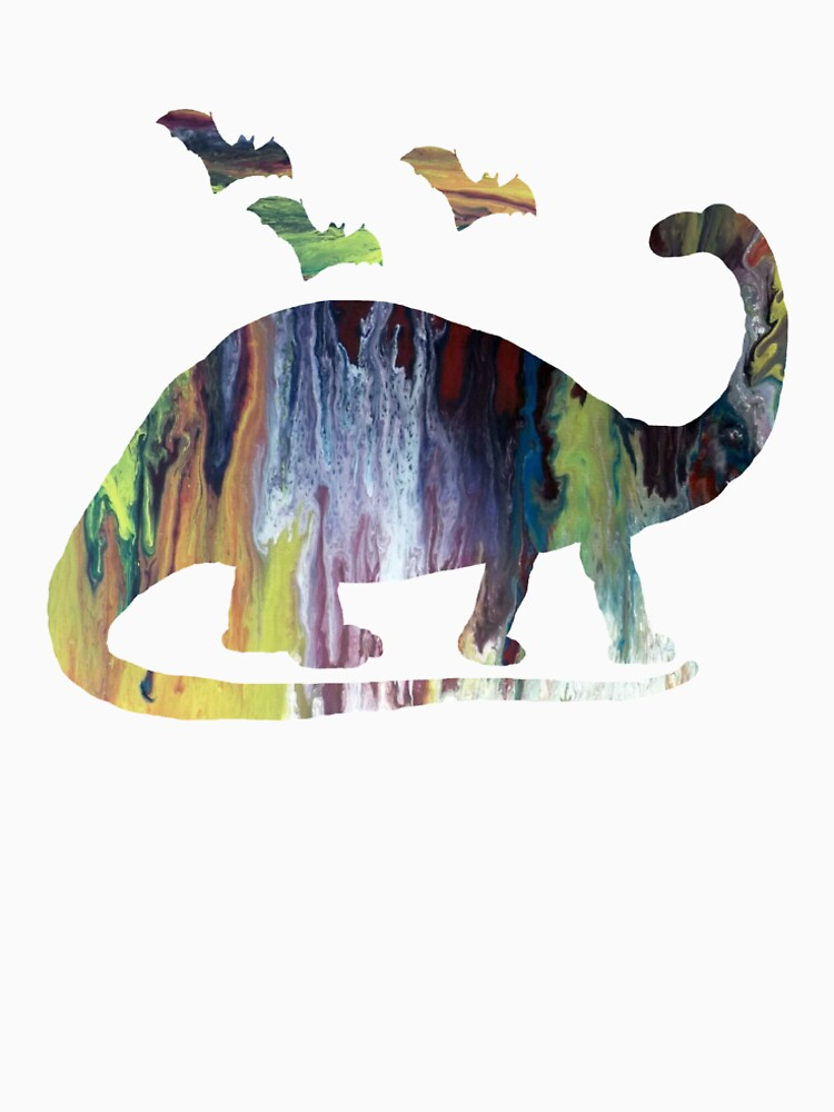 Brontosaurus and bats by BittenByErmines