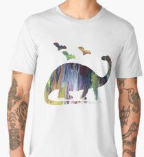 Brontosaurus and bats Men's Premium T-Shirt