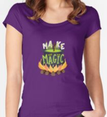 Make your own magic Women's Fitted Scoop T-Shirt