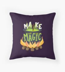 Make your own magic Throw Pillow