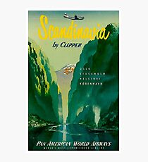 SCANDINAVIA: Vintage Pan American Airways Travel Advertising Print Photographic Print
