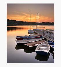 Sunset on the Jamaica Pond Boathouse Photographic Print