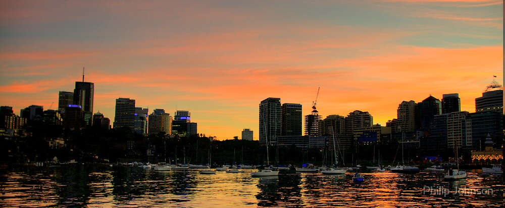 Titans At Rest - Moods Of A City #24 - The HDR Series, Sydney Harbour, Australia by Philip Johnson