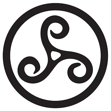 TRISKEL, Triskelion, Tattoo, Triskele, Three, 3, Legs, Neolithic, Bronze Age, Iron Age, BLACK by TOMSREDBUBBLE