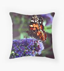 Color Attracting Color Throw Pillow