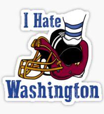 I Hate The Washington Redskins Sticker