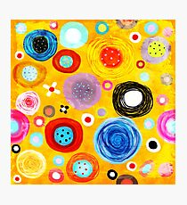 Yellow and Orange Circles Still-life Delicious Art  Photographic Print