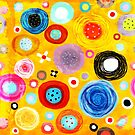 Yellow and Orange Circles Still-life Delicious Art  by rupydetequila